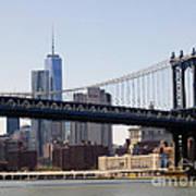 Manhattan Bridge And One Wtc Art Print