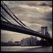 Manhattan Bridge In Ny Art Print