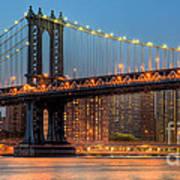 Manhattan Bridge Panoramic Art Print