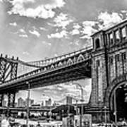 Manhattan Bridge - Pike And Cherry Streets Art Print