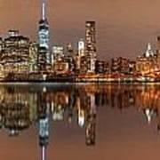 Manhattan Downtown Reflections Art Print