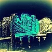 Manhattan In Blue Art Print