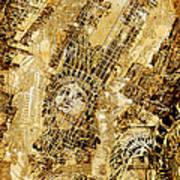 Manhattan Map Antique Art Print