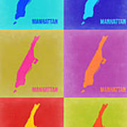 Manhattan Pop Art Map 3 Art Print
