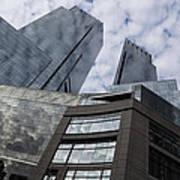 Manhattan Sky And Skyscrapers Art Print