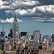 Manhattan-skyline Art Print