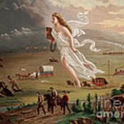 Manifest Destiny 1873 Art Print by Photo Researchers