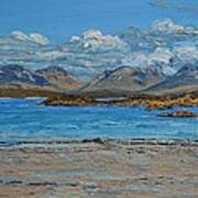 Mannin Bay And The Twelve Bens Mountains Connemara Ireland Art Print