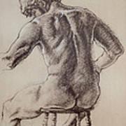 Man's Back Art Print