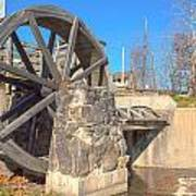 Mansfield Mill Water Wheel Art Print