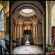 Mansion Hallway Triptych Art Print by Adrian Evans