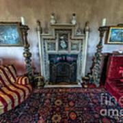 Mansion Sitting Room Art Print by Adrian Evans
