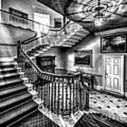 Mansion Stairway V2 Art Print by Adrian Evans