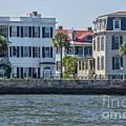 Mansions By The Water Art Print