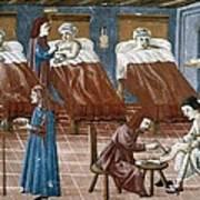 Manuscript Gaddiano Circa 1542. Doctors Art Print