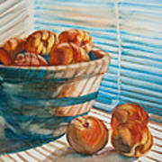 Many Blind Peaches Print by Jani Freimann