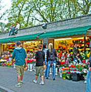 Many Flower Shops In Tallinn-estonia Art Print