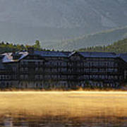 Many Glacier Hotel Sunrise Panorama Art Print