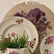 Many Rose Designs Still Life  Art Print