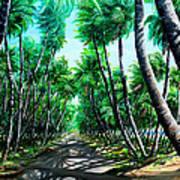 Manzanilla Coconut Estate Art Print