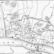 Map: London, 13th Century Art Print