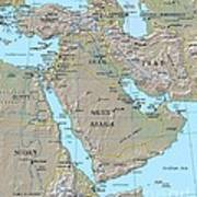 Map - Middle East Art Print