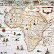 Map Of Africa, 1630 Art Print