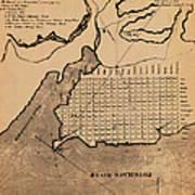 Map Of Alexandria 1798 Art Print