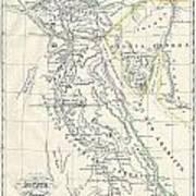 Map Of Ancient Egypt Art Print