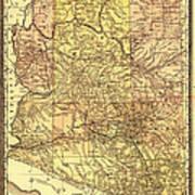 Map Of Arizona 1883 Art Print