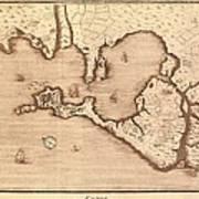 Map Of Cadiz By Antonio Ponz 1794 Art Print