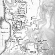 Map Of Delos Greece 1909 Art Print