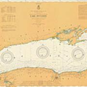 Map Of Lake Ontario 1904 Art Print