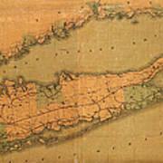 Map Of Long Island 1888 Art Print