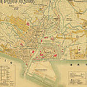 Map Of Manila 1899 Art Print