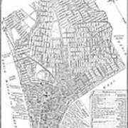 Map Of New York City, 1803 Art Print