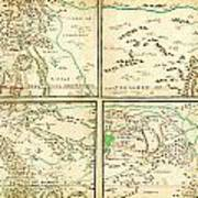Map Of Spanish Holdings In North America 1769 Art Print