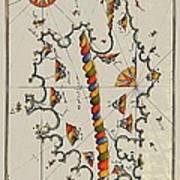 Map Of The Island Corsica Art Print