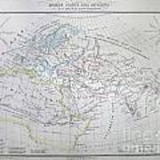 Map Of The World According To The Ancients Art Print
