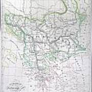 Map Of Turkey Or The Ottoman Empire In Europe Art Print