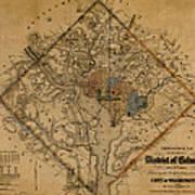 Map Of Washington 1862 Art Print