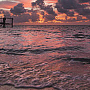 Marathon Key Sunrise Panoramic Art Print by Adam Romanowicz