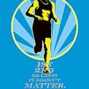 Marathon Runner First Retro Poster Art Print