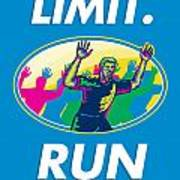 Marathon Runner Push Limits Poster Art Print