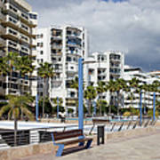 Marbella Apartment Buildings Art Print