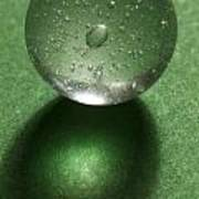 Marble Clear On Green 1 Art Print