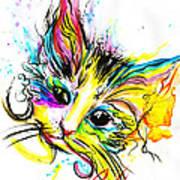 Marble The Cat Art Print