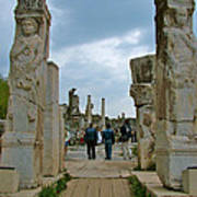 Marble Way From Theater To Central Ephesus-turkey Art Print
