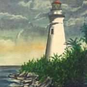 Marblehead Light On Lake Erie Art Print