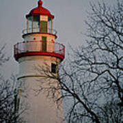 Marblehead Lighthouse On Lake Erie  Art Print